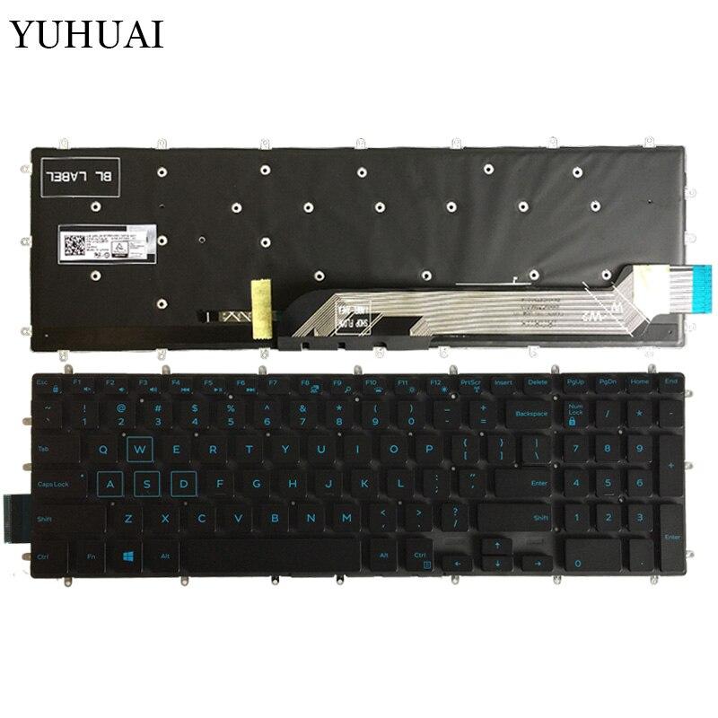 NEW For DELL G3 3579 3779 G5 5587 G7 7588 Keyboard White Backlit Latin Spanish