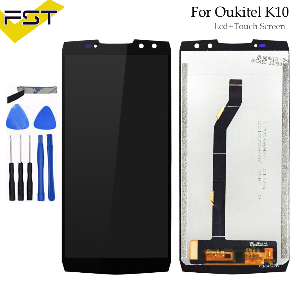 Black For Oukitel K10 LCD Display+Touch Screen Screen Digitizer Assembly Repair Parts+Tools +Adhesive LCD Glass Panel for K10Black For Oukitel K10 LCD Display+Touch Screen Screen Digitizer Assembly Repair Parts+Tools +Adhesive LCD Glass Panel for K10