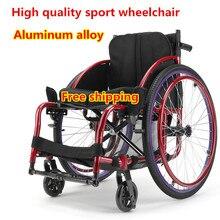 Спортивная инвалидная коляска для отдыха легкий складной Сверхлегкий, портативный для инвалидов Спортивная инвалидная коляска мини Алюминиевая тележка