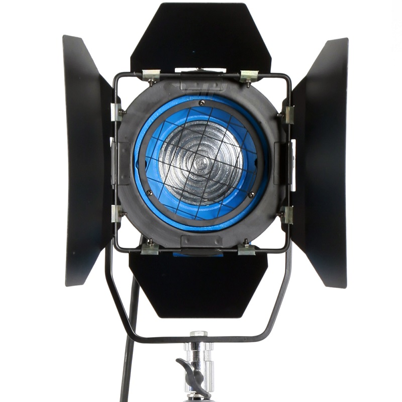 650W Fresnel Tungsten Spotlight Lighting for  Studio Soft Video Light+Bulb+Barndor camera free shipping ashanks 800w studio video red head light with dimmer continuous lighting bulb free shipping