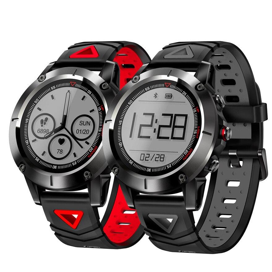 GPS montre intelligente IP68 étanche natation Smartwatch bande avec pression artérielle fréquence cardiaque montre-bracelet Sport boussole compteur d'altitude