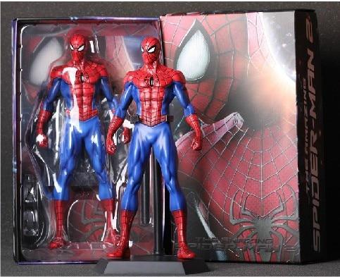 WHolesale Retail Marvel Super hero The Amazing Spider-man 25CM High Quality PVC Figure New  In Original Box new arrival marvel classic superhero x men astonishing wolverine high quality pvc 10 25cm figure toys new in box