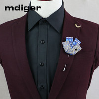 Mdiger New Brand Rhinestone Brooch Multi Color Flower Brooches Leaf Lapel Pins Collar Pin Suits Wedding Jewelry 10 PCS/LOT