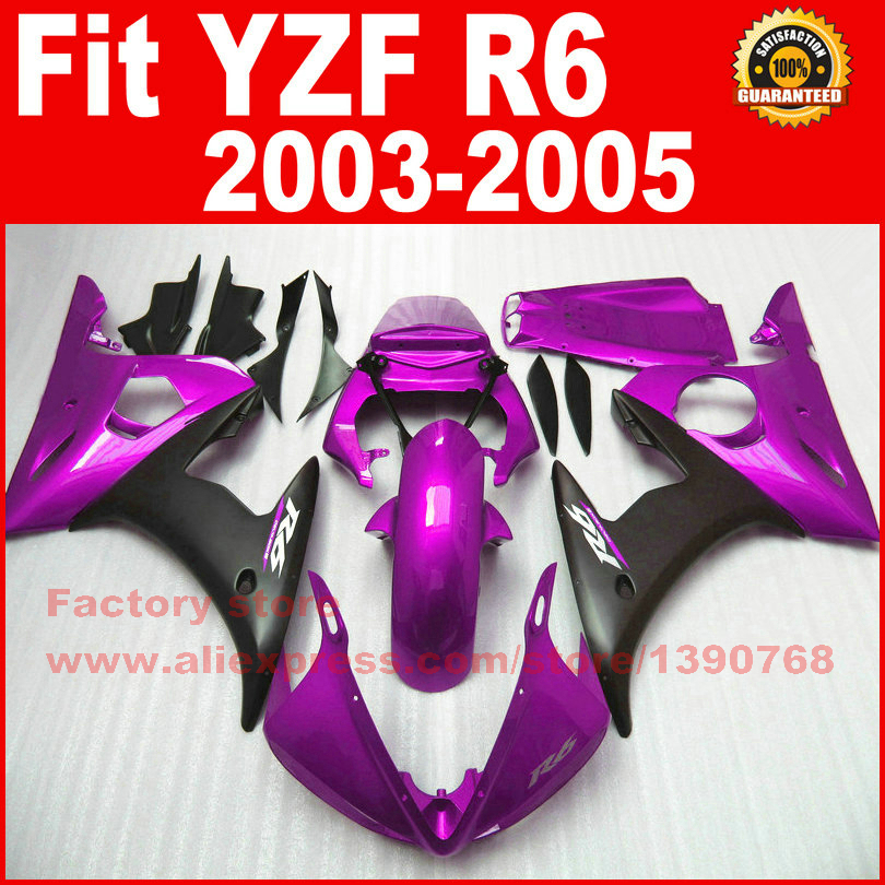 Hot ABS motorcycle part for YAMAHA R6 fairing kits 2003 2004 2005 purple black YZF R6 03 04 05 fairings body set U7C mfs motor motorcycle part front rear brake discs rotor for yamaha yzf r6 2003 2004 2005 yzfr6 03 04 05 gold