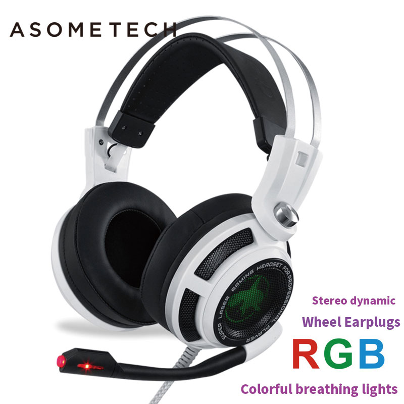 S3 Stereo Gaming Headset Headphones with Microphone Bass Vibration Control LED Lighting 3D for PS4 PC Gamer Computer Earphone 2 4g wireless vibration gaming headset with effect bass optical wireless stereo vibration gaming headset for ps4 ps3 xbox one