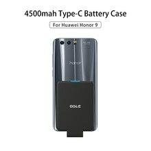 OISLE 4500mAh Type-C Battery Case For Honor 9 10 Lite V20 Po