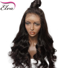 Elva Hair Glueless Lace Front Human Hair Wigs Pre Plucked Natural Hairline Body Wave Brazilian Remy