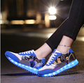 7 Colors 2016 Canvas Totem LED Shoes Women Casual Shoes Flower Patchworks USB Charging Zapatillas Deportivas Chaussure Led Mujer