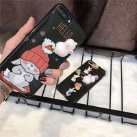 New Fashion 3D Cute Cartoon Soft Silicon Shine Mobile Phone Cases For IPhone7 7Plus 6 6S