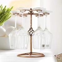 Upside Down Cup Holder Wine Bottle Holder Glass Cup Holder Display Champagne Bottles Stand Hanging Drinking Glasses Rack