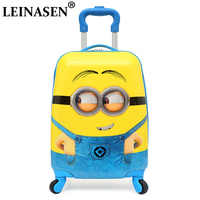 New Cartoon Children Rolling Luggage Wheeled bag 16 18 inch Kid Suitcase Boy Girl Carry Ons ABS Luggage Trolley child Luggage