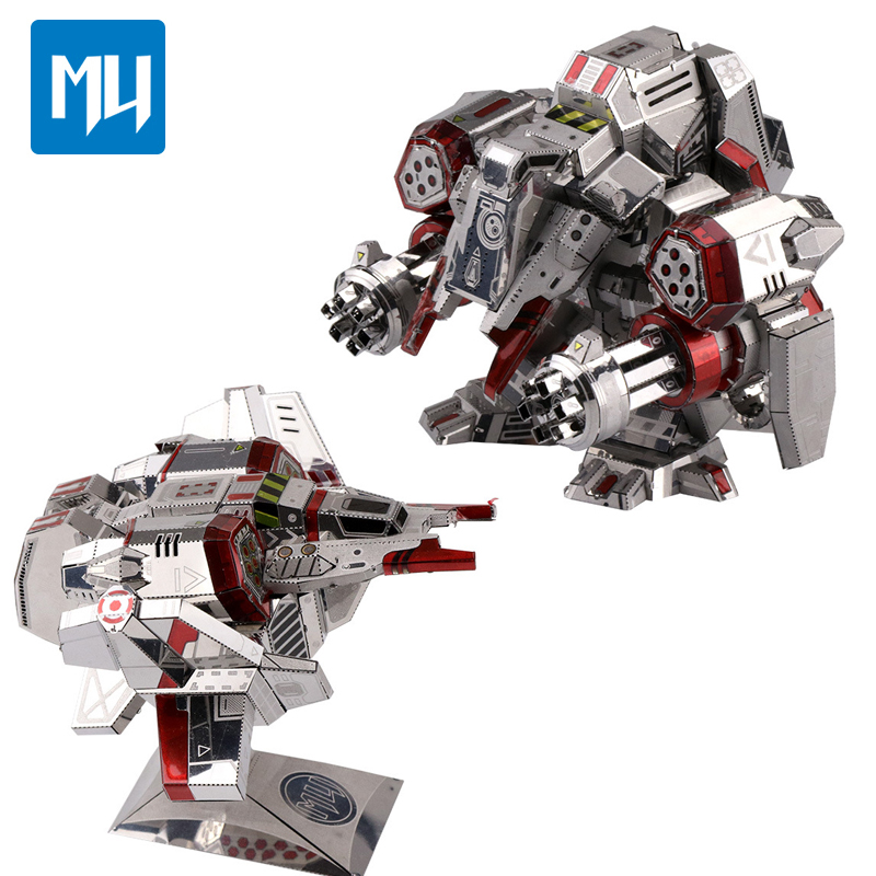 Mu New VIKING 2 in 1 9 Sheets Interplanetary Series Star 3D Metal Assembly Model Robot Armor Aircraft Childrens gifts DIY