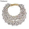 Vedawas Layer Rhinestone Beads Collar Choker Necklace&Pendant DIY Fashion Style Statement Jewelry 2016 New Maxi Necklace XG2455