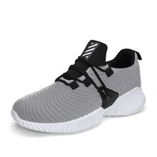 LAISUMK Autumn Spring Black Men Sneakers 2019 Lace-up Outdoor Light Fashon Walking Zapatillas Shoes For Man