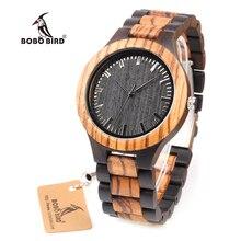 Бобо птица WD30 Топ Брендовая дизайнерская обувь мужские деревянные часы Zabra Деревянный Кварцевые часы для мужчин часы в подарочной коробке