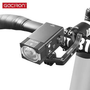 Image 2 - GACIRON 500/800 ルーメン自転車ライト 200 メートルバイクフロントライト USB 充電式懐中電灯防水ヘッドライトサイクリングアクセサリー