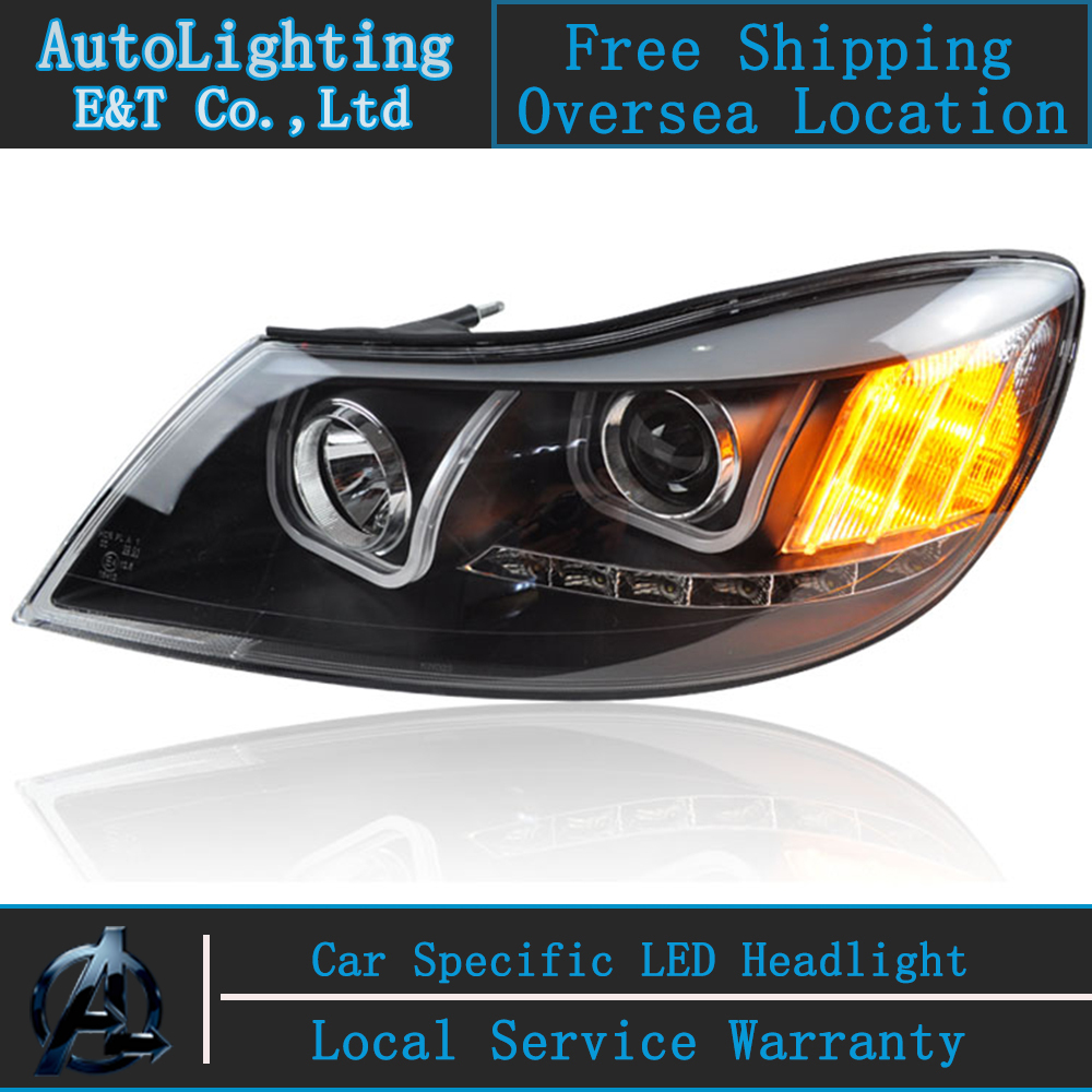 Car styling LED Head Lamp for Skoda Octavia A5 led headlight assembly  2010-2012 drl H7  with hid kit 2 pcs. car styling head lamp for bmw e84 x1 led headlight assembly 2009 2014 e84 led drl h7 with hid kit 2 pcs
