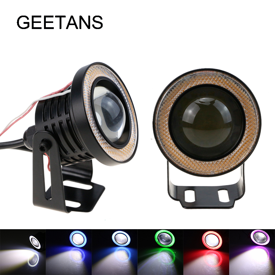 Super bright Angel Eyes Fog Lamps Daytime Running Lights 2.5/3/3.5 Inch Car DRL Any Car 2800lm IP67 waterproof led eye DE 3 5mm stereo headset earphone headphone with microphone mic adjustable headband for computer laptop desktop