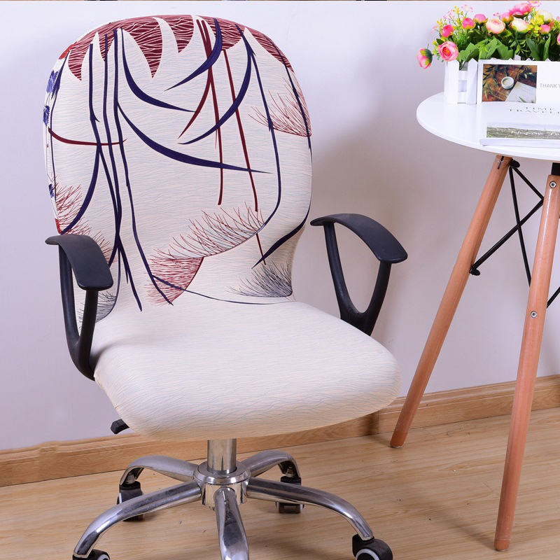 Office Computer Chair Cover Spandex Stretch Swivel Rotate Seat Antimacassar