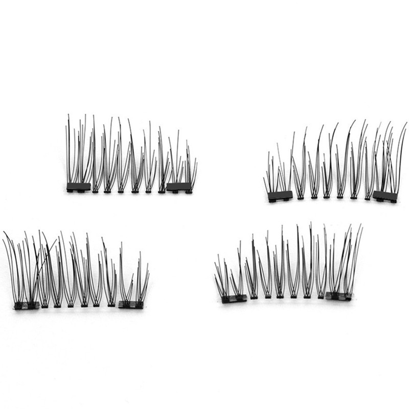 4Pcs/Pair Magnetic Eyelashes Natural Long False Eyelashes Hair Extension Women Eye Make Up 3D Eye Lashes