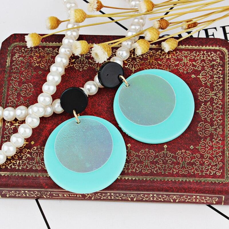 Romantic jewelry earrings female elegant round multi-color metal earrings girl gift earrings accessories new explosion models
