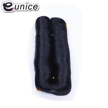 Eunice двойной уток короткие прямые волосы боб плетение 99J цвета 28 штук Femi искусственные завитые волосы высокотемпературное волокно 3-5 дюймов