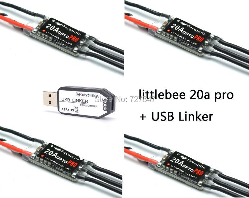 ESC USB Linker Programmer Original FVT LittleBee 20A OPTO PRO ESC BLHeli 2-4S Supports OneShot125 For RC Helicopter Quad