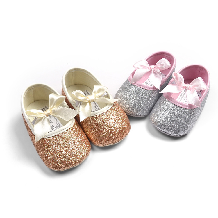 Fashion baby girl shoes Hot sale girl first walkers Bling baby girl shoes  for 0-12 month baby Gold Pink Silver hot pink colors 8263c08df672