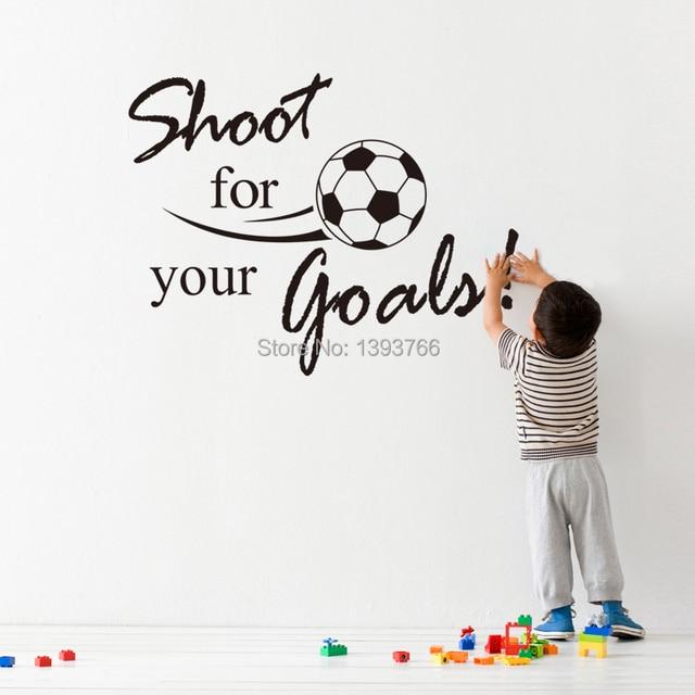 44 57cm Shoot For Football Wall Stickers Living Room Mural Nursery Decor Factory