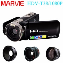 Marvie HDV-T38 Camcorder FHD 1080P Record Camera with 2.7″LCD Webcam Camcorder Rotatable 270 Degree Screen Photo Camera