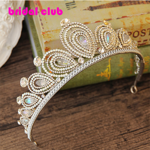 Vintage Peacock Crystal Handmade Tiara Bridal Hair Accessories Wedding Quinceanera Rhinestone Tiaras Crowns Pageant Hairwear