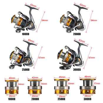2019 DAIWA REGAL LT Spinning Fishing Reel 1000D 2000D 2500D 2500DXH 3000DC 3000DCXH 10BB Air Rotor Aluminum Spool Fishing Tackle