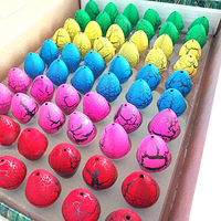 60pcs Lot Colorful Baby Novelty Gag Toys Magic Cute Hatching Growing Dinosaur Eggs For Kids Children