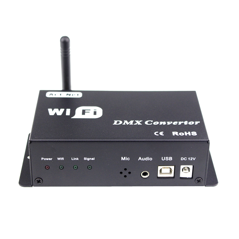 Image 4 - led 12v wifi led controller dmx 512 controller convert wifi signal into dmx signal by IOS or Android system control led lamps-in RGB Controlers from Lights & Lighting
