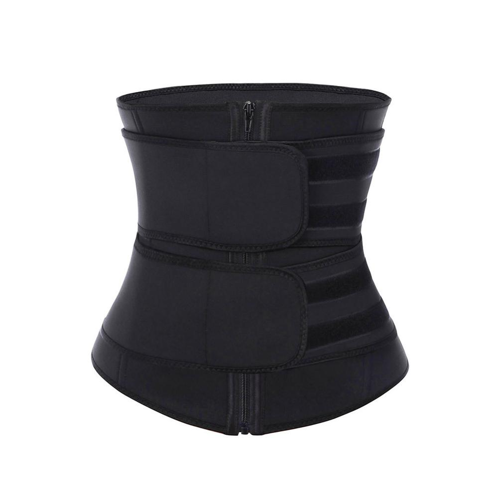 100% Latex 7 Steel Bone Waist Cincher Corset Underbust High Compression Plus Size Belt Girdle Double Control Slimming Abdominal