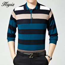Top Quality Fall Dress Long Sleeve Cashmere Sweater Shirt Men Wool Pullover Men Casual Striped Turn-down Collar Pull Homme 66111