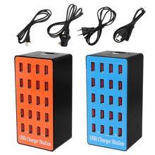 20 портовый концентратор USB зарядное устройство адаптер питания стены Быстрая Зарядка Док станция 100 Вт для Apple iPhone, iPad, Samsung, Huawei смартфон стол