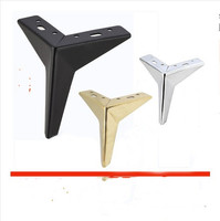 4pcs Adjustable Height Hardware Furniture Legs Metal Triangle Table Legs Squar Cabinet Sofa Foot Furniture Accessories
