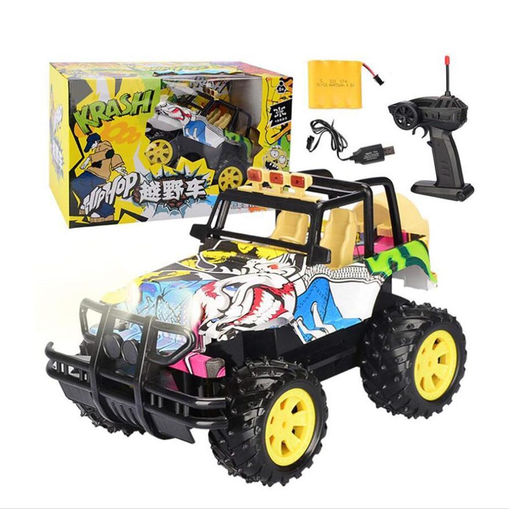 Mini jouet électronique de voiture télécommandée Graffiti pour enfants garçons filles