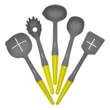 5 шт. супер крепкий Пособия по кулинарии набор инструментов антипригарным Пособия по кулинарии лопаточка ковш спагетти сервер щелевые токарь Кухня посуда комплект