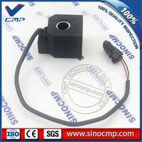 SINOCMP R210 5 27V Square Solenoid Coil For Hyundai Excavator