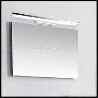 L40/60/80/100 cm Nowoczesne Akrylowe LED z przodu lustro światła 8/12/16/24 W DOPROWADZIŁY łazienka prysznic w łazience kinkiet kinkiet łuku lub pod kątem prostym