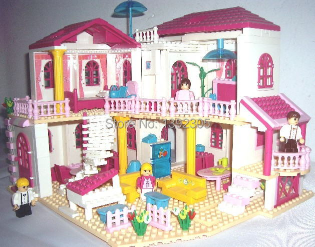 House Toys For Girls : New assembling building puzzle toy model villa house girl princess