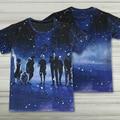 Men Summer Short Sleeve Creative 3D Tokyo Ghoul T-shirts Animation  Print T Shirts Fashion Shirts Design