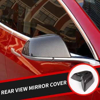 My Good Car Rear view mirror cover carbon fiber decorative mirror housing for Tesla model 3 2017-2018 Car accessories