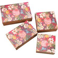 10pcs/lot Beautiful Flowers Paper Bag Egg Yolk Pastry Cake packaging  Kraft Multifunction Gift Bags