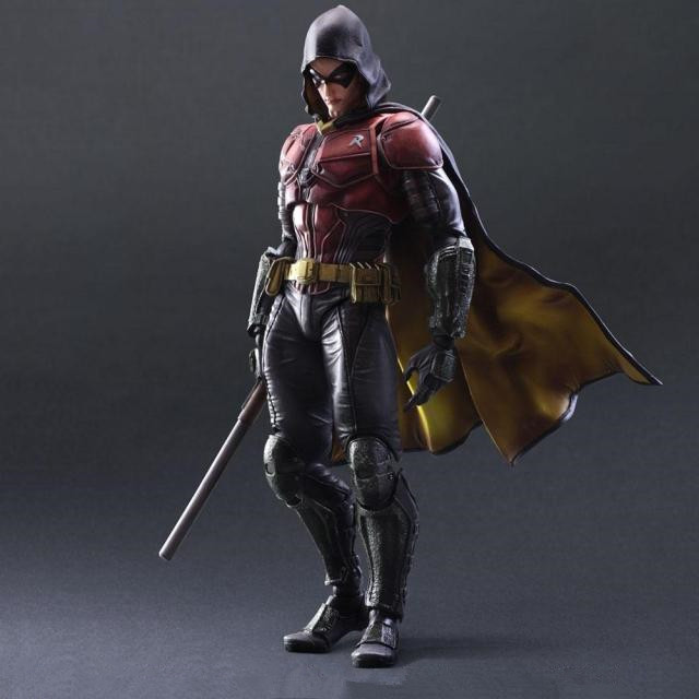 BatMan Action Figure Play Arts Kai Arkham Knight Robin PVC Figure Toys 250MM Anime Movie Bat Man Robin Playarts Kai Doll gogues gallery two face batman figure batman play arts kai play art kai pvc action figure bat man bruce wayne 26cm doll toy