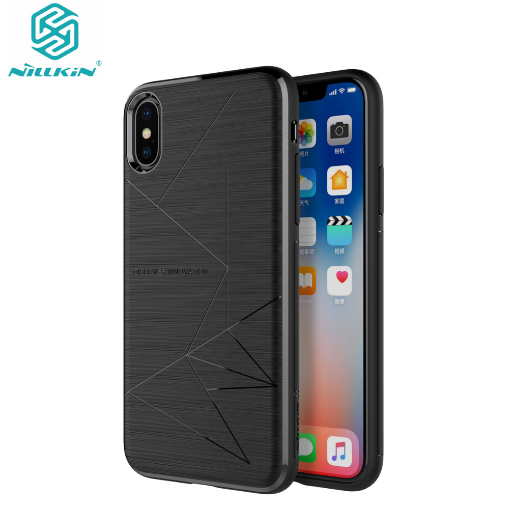 For iPhone X Case NILLKIN For Apple iPhone X Case Cover QI