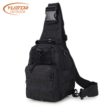 YUETOR OUTDOOR 600D Tactical Shoulder Bag Waterproof Single Shoulder Camping Travel Trekking Hiking Military Backpack for Men