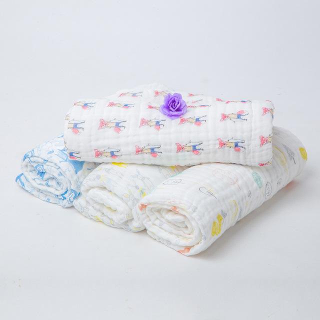 2 capa Del Bebé niños manta Otoño Recién Nacido Bebé Suministros de Gasas Sostiene Mantas Engrosamiento Suave 100% Algodón Muselina Con Etiqueta